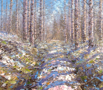 Sold paintings April birches under Oshtoy
