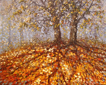 Sold paintings Two autumn oak