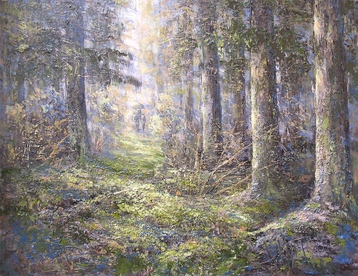 Sold paintings Forest walk