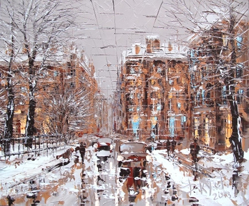 Sold paintings From the series Winter Petersburg