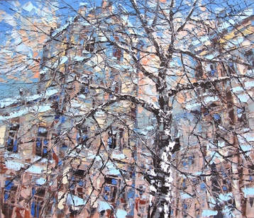 Sold paintings Winter tree