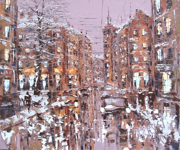 Sold paintings From series Winter Petersburg