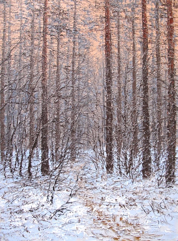 Sold paintings The path in winter forest