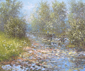 Sold paintings Etude Summer Small River